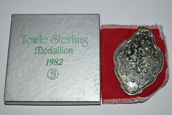 Towle Annual Sterling 12 Days of Christmas Medallion Ornament 1982 12th $35.00