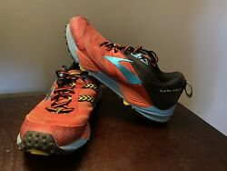 Brooks Cascadia 12 Mens Trail Running Shoes Red blue Yellow Size 8.5 $24.95