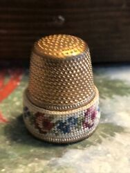 Thimble Brass With Petit Point Band Made In Austria $5.95