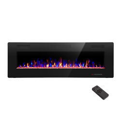 42quot; Electric Fireplace Recessed Wall Mounted and in Wall Fireplace Heater $269.99