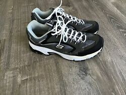 Skechers Mens 13 Extra Wide Sn 51286EW Charcoal Gray Lace Up Athletic Shoes $34.99