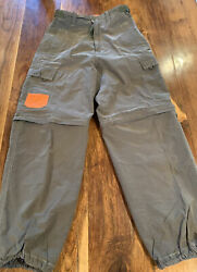 CARBON Hiking Outdoors Pants Olive Green Multipocket Zip Off Leg Size W 28 L 30 $24.99