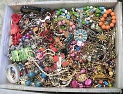 Huge Jewelry Lot 3 4 Pound Lbs Vintage Now Junk Craft Wear Pieces Parts Tangle $37.99