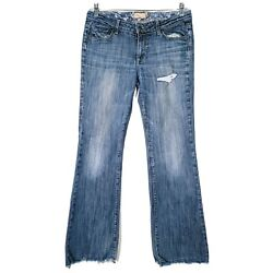PAIGE Womens Size 31 Jeans Hollywood Hills Bootcut Distressed Blue Low Rise $35.51