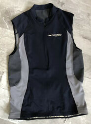 CANNONDALE CARBON Women#x27;s Cycling Blue gray Shirt with 1 4 Zip S small38 🌼 $16.88