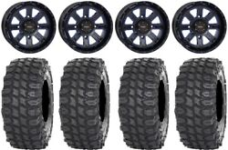 System 3 ST 4 14quot; Wheels Blue 30quot; X COMP Tires Can Am Defender $1254.68