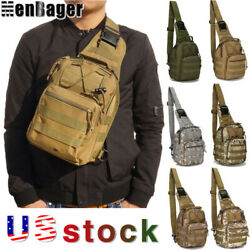 Men Military Tactical Chest Pack Outdoor Hiking Travel Sling Small Shoulder Bag $12.34