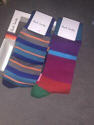 🎁Paul Smith Men Sock Made In Italy Mainline Sock 2 Pairs GBP 27.00