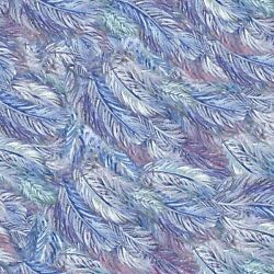 Feathers from Celestial Journey by Josephine Wall for 3 Wishes Fabric $15.95