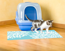 XL Large Cat Litter Box Mat Pad Pet Kitty Clean Easy Cleaning Floor Protecter $16.99