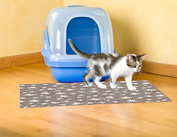 XL Large Cat Litter Box Mat Pad Pet Kitty Clean Easy Cleaning Floor Protecter $20.22