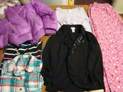Girls Size 11 12 Clothing Lot Justice Winter Coat Blazer Dress Puffer Shirts $12.60