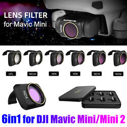 6PCS Drone Camera Lens Filter Kit MCUV CPL ND4 8 16 32 for DJI Mavic Mini Mini 2 $33.48