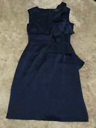 TAHARI Dark Blue Dress Size 4