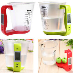 LCD Screen Digital Kitchen Food Scaleamp;Measuring Cup 100 600ml 1000g Jug Scales $14.99