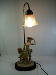 Vintage Lamp with Lady Flowers and Doves Cross Collection. Art Deco Style $59.95