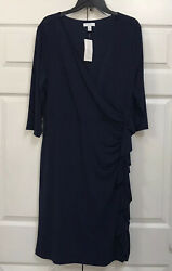 NWT CHARTER CLUB Womens Blue Dress 1X