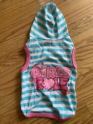 Simple Dog quot;Girls Rulequot; Dog Hoodie Size M $11.95