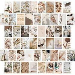 Neutral Bedroom Girls Wall Collage Photo Aesthetic Posters 50 Set 4x6 inch $24.21