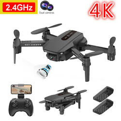 2021 RC Drone 4K Dual Camera WiFi FPV Selfie Drone Foldable Quadcopter 2 Battery $32.99