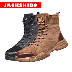 Mens High Top Safety Shoes Indestructible Steel Toe Work Boots Hiking Sneakers $38.99