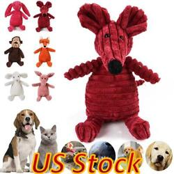 Pet Dogs Chew Toy Squeaky Plush Dog Toy for Aggressive Chewers Plush Toys US $7.85