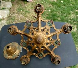 Antique Vintage Metal Chandelier French Country Farmhouse Style $179.99