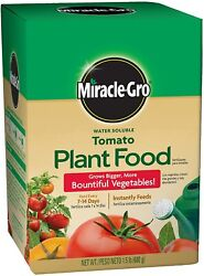 Miracle Gro Tomato Plant Food Grow Bigger Water Soluble Vegetables Fertilizer $8.97
