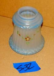Antique Hand Painted Glass Floor Lamp Shade Vte Wall Sconce Fixture Shade S 32 $39.99