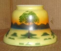 VTG Obverse Hand Painted Glass Floor Lamp Shade Ceiling Fixture Shade S 15 $49.99