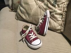 Wine Color Converse All Star Kids Size 7 Toddler barely worn $16.00