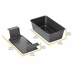 Meatloaf Pan 2 Piece Healthy Meatloaf Set Drain Fat Kitchen Baking Cookware NEW $20.59