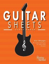 Guitar Sheets Staff Paper: Over 100 Pages Of Blank Treble Clef Paper Tab ... $12.54
