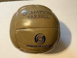 Old ?Leather? Medicine Ball Champion Barbell Company Sports Exercise Gym Weight $89.00