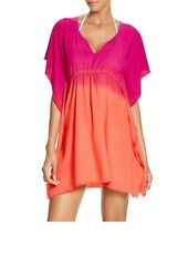 Becca Womens Cover Up Swimwea rXS Small Pink Orange Ombre Tunic Tie Waist $19.95