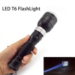 T6 LED FlashLight zoomable Flash Light Torch Lamp Powerful Tactical Lanterna $9.99