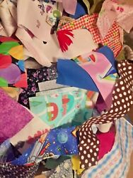 New Fabric Scraps Quilting Scrapbooking Doll Clothes Lot Of 10 $1.00