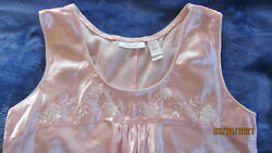 Womans Adonna Pink Long Sleeveless Nightgown Size M may fit Small $19.00