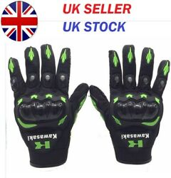Kawasaki Motocross Motorcycle Motor Riding Cycling Racing 100% Fox Gloves GBP 13.99