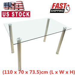 110 x 70 x 73.5cm Dining Table Tempered Glass Dining Table Only Table US $109.99