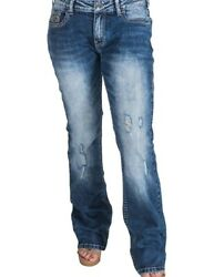 Cowgirl Tuff Western Jeans Womens Right On Bootcut Button Med JRITON $94.94
