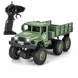 XINGRUI 50 Minutes Playing Time RC Military Truck JJRC Q69 Off Road Remote $69.98