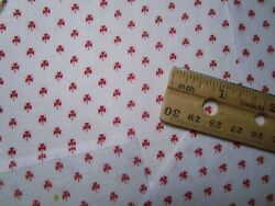 Antique Fabric squares 1800#x27;s shirting calico Red ditsy 16 pcs 5quot; Quilt $28.00