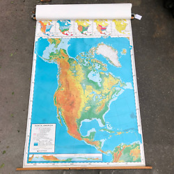 Nystrom United States Map 73quot; x 50quot; Double Vintage Classroom Pull Down $149.00