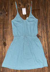 NWT ROXY Women#x27;s Isla Vista Strappy Blue Dress XS $35