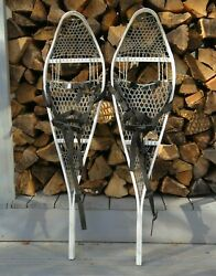 Magline Military Surplus Snowshoes Magnesium White w Bindings Made in USA $49.90