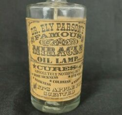 VINTAGE quot;Dr Ely Parson#x27;s FAMOUS MIRACLE OIL LAMPquot; Small 10.5quot; Tall Complete $19.99