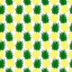 Pineapples 100% Cotton 18quot;x21quot; Fat Quarter Novelty Food Fabric Crafts $5.95
