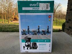 Evenflo Pivot Modular Travel System Infant Baby Car Seat Stroller Sandstone $200.00