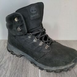 Timberland Rangeley Mid Hiking Black Leather Boots 9811R A3746 Men#x27;s Sz 10 $29.99